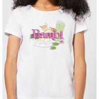 Image of Disney Bambi Kiss Women's T-Shirt - White - XL - White