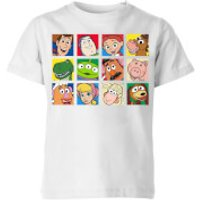 Disney Toy Story Face Collage Kids' T-Shirt - White - 11-12 Years - White - Toy Story Gifts