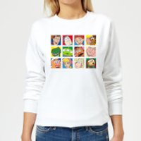 Disney Toy Story Face Collage Women's Sweatshirt - White - XXL - White - Toy Story Gifts