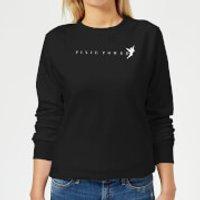 Disney Peter Pan Tinkerbell Pixie Power Women's Sweatshirt - Black - M - Black