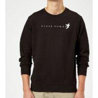 Disney Peter Pan Tinkerbell Pixie Power Sweatshirt - Black - L - Black