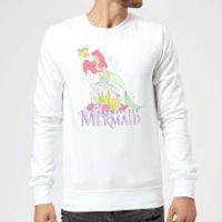 Disney Little Mermaid Sweatshirt - White - XXL - White - Mermaid Gifts