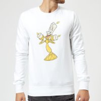 Disney Beauty And The Beast Lumiere Distressed Sweatshirt - White - XXL - White - Beauty And The Beast Gifts