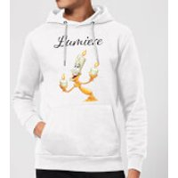 Disney Beauty And The Beast Lumiere Hoodie - White - M - White - Beauty And The Beast Gifts