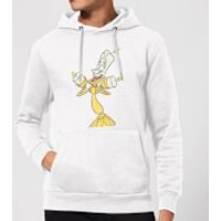 Disney Beauty And The Beast Lumiere Distressed Hoodie - White - M - White - Beauty And The Beast Gifts