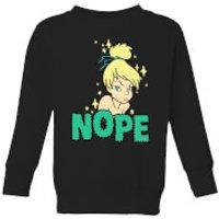 Disney Peter Pan Tinkerbell Nope Kids' Sweatshirt - Black - 11-12 Years - Black - Peter Pan Gifts