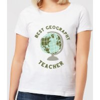 Best Geography Teacher Women's T-Shirt - White - XXL - White - Geography Gifts