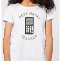 Best Maths Teacher Women's T-Shirt - White - XXL - White - Maths Gifts