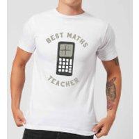 Best Maths Teacher Men's T-Shirt - White - M - White