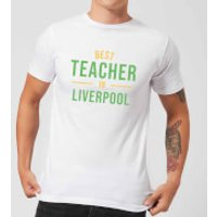 Best Teacher In Liverpool Men's T-Shirt - White - 3XL - White - Liverpool Gifts