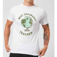 Best Geography Teacher Men's T-Shirt - White - XXL - White