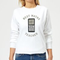 Best Maths Teacher Women's Sweatshirt - White - XXL - White - Maths Gifts