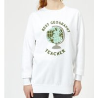Best Geography Teacher Women's Sweatshirt - White - 5XL - White - Geography Gifts