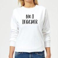 Image of No.1 Teacher Women's Sweatshirt - White - L - White