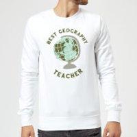 Best Geography Teacher Sweatshirt - White - XXL - White - Geography Gifts