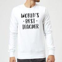 World's Best Teacher Sweatshirt - White - L - White