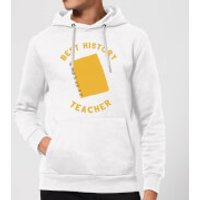 Best History Teacher Hoodie - White - M - White - History Gifts