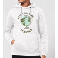 Best Geography Teacher Hoodie - White - XXL - White