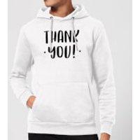 Thank You! Hoodie - White - L - White