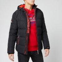 Superdry Men's Sports Puffer Jacket - Jet Black - S