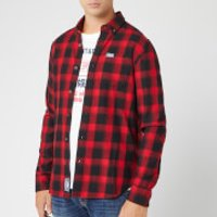 Superdry Men's Workwear Long Sleeve Shirt - Red Check - XL