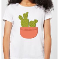 Two Potted Cacti Women's T-Shirt - White - M - White
