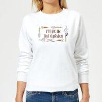 I'll Be In The Garden Women's Sweatshirt - White - M - White