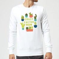 Crazy Cactus Mum Sweatshirt - White - XL - White