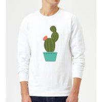 Single Potted Cactus Sweatshirt - White - M - White