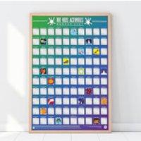 100 Kids Activities Scratch Bucket List Poster - Activities Gifts
