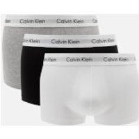 Calvin Klein Men's 3 Pack Low Rise Trunk Boxers - Black/White/Grey - M