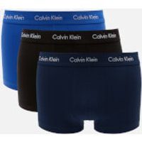 Calvin Klein Men's 3 Pack Low Rise Trunk Boxers - Blue Shadow/Cobalt Water/Black - M