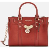 MICHAEL MICHAEL KORS Womens Nouveau Hamilton Small Satchel Bag - Brandy