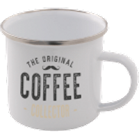 The Original Coffee Collector Enamel Mug – White - Coffee Gifts