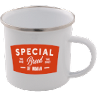 Special Breed Of Woman Enamel Mug – White - Woman Gifts