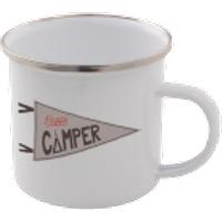 Happy Camper Enamel Mug – White - Mug Gifts