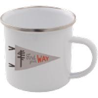 Find Your Way Enamel Mug – White - Mug Gifts