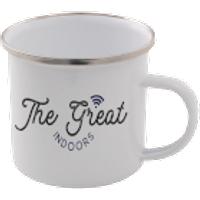 The Great Indoors Enamel Mug – White - Mug Gifts