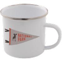 National Park Enamel Mug – White - Mug Gifts