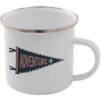 Adventure Enamel Mug – White - Mug Gifts