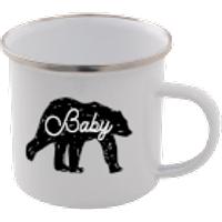 Baby Bear Enamel Mug – White - Mug Gifts