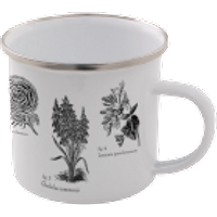 Flowers Enamel Mug – White - Mug Gifts