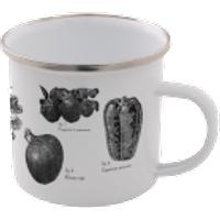 Vegetables Enamel Mug – White - Mug Gifts