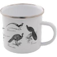 Birds Enamel Mug – White - Mug Gifts
