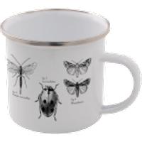 Insects Enamel Mug – White - Mug Gifts