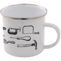 Tools Enamel Mug – White - Tools Gifts