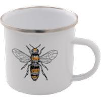 Bees Enamel Mug – White - Mug Gifts