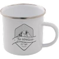 The Adventure Enamel Mug – White - Mug Gifts