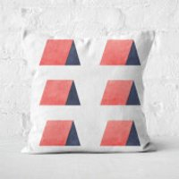 Aztec Triangle Huts Square Cushion - 60x60cm - Soft Touch