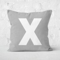 Letter X Square Cushion - 50x50cm - Soft Touch